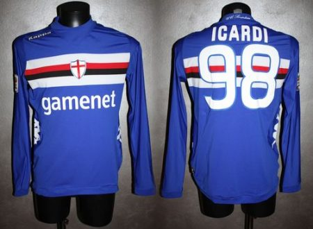 shirt match worn SAMPDORIA 2012-2013