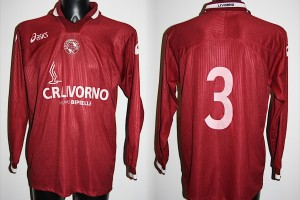 Shirt Match Worn LIVORNO 2000-2001