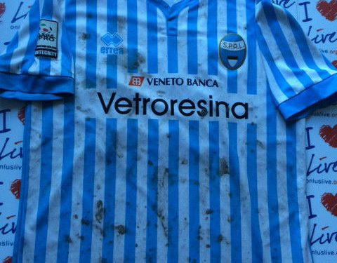 Shirt Match Worn SPAL 2014-2015