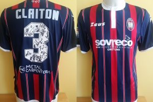 Shirt Match Worn CROTONE 2016-2017