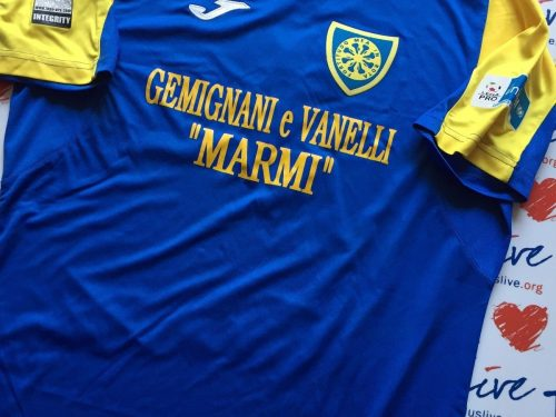 Shirt Match worn CARRARESE 2016-2017